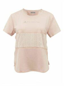 Adidas By Stella Mccartney - Snake-print Panel Technical T-shirt - Womens - Pink Print