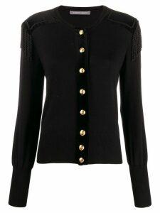 Alberta Ferretti Epaulette cardigan - Black