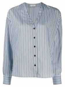 Sandro Paris v-neck striped shirt - Blue