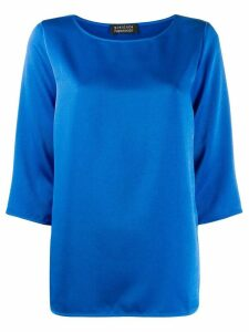 Gianluca Capannolo oversized flared top - Blue