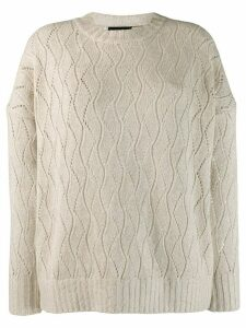 Etro metallic threading jersey - NEUTRALS
