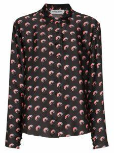 Marine Serre Moon Shadow print shirt - Black