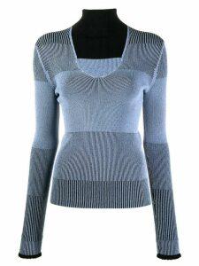 Ssheena cut-out detail knit top - Black