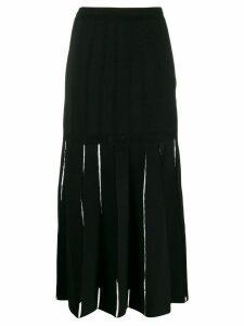 Alexander McQueen cut-out detail skirt - Black