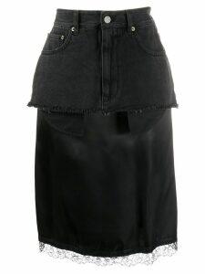 Mm6 Maison Margiela layered midi skirt - Black