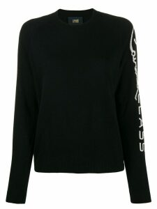 Cavalli Class crew-neck logo jumper - Black