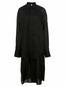 Y's oversized layered shirt - Black