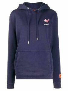 Heron Preston logo print hoodie - Blue