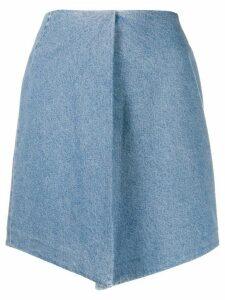 Christian Wijnants asymmetric denim skirt - Blue