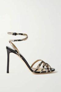 Jimmy Choo - Mimi 100 Snake-effect Leather Sandals - Snake print