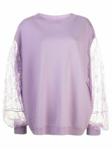 Adam Lippes lace panel jumper - PURPLE
