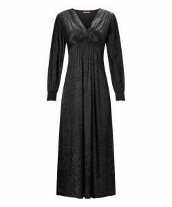 Floral Jacquard Maxi Dress