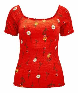 Sunny Disposition Shirred Top