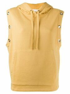 Ba & Sh sleeveless hoodie - Yellow