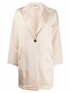 Semicouture oversized single-breasted blazer - NEUTRALS