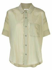 Julien David boxy patch-pocket blouse - Green