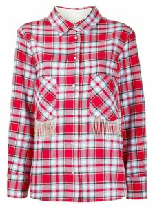 Woolrich fringed pockets check shirt - Red