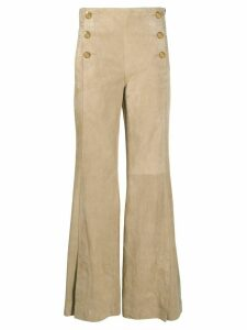 Dorothee Schumacher flared buttoned trousers - NEUTRALS
