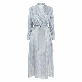 MENG Silver Shawl-collared Robe