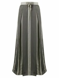 Lorena Antoniazzi box pleat drawstring maxi skirt - Grey