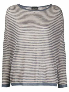 Roberto Collina striped print jumper - NEUTRALS