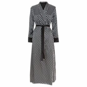 MENG Black Shawl-collared Robe