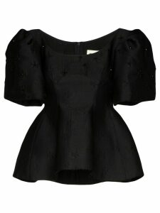 Shushu/Tong gathered puff sleeve blouse - Black