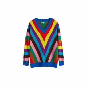 Chinti & Parker Multicolour Virginia Striped Wool-cashmere Sweater