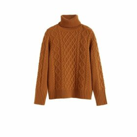 Chinti & Parker Ginger Pop Aran Merino Wool Sweater