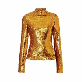 Burberry Sequinned Turtleneck Top