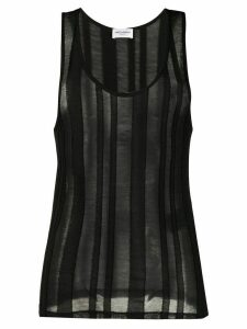 Saint Laurent striped sheer tank top - Black