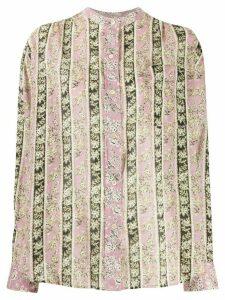 Isabel Marant Étoile Mexika floral stripe print shirt - PINK