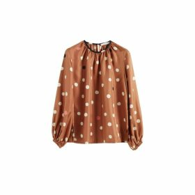 Chinti & Parker Ginger Painted Spot Silk Blouse