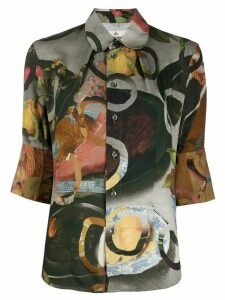 Vivienne Westwood food print fitted shirt - Green