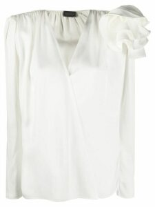 Magda Butrym Bolzano ruffled shoulder blouse - White
