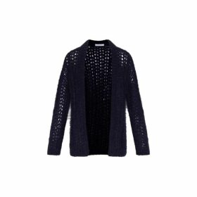 Gerard Darel Oversized Syrine Cardigan With Lurex And Crochet Knit