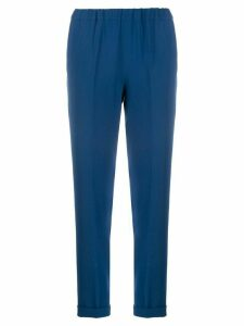 Alberto Biani elasticated slim-fit trousers - Blue
