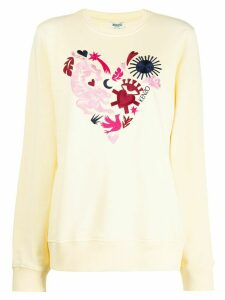 Kenzo embroidered motif sweatshirt - Yellow