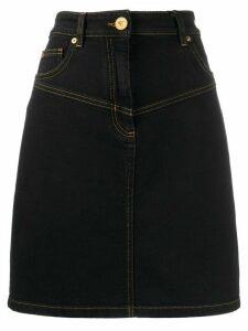 Versace high-rise denim skirt - Black