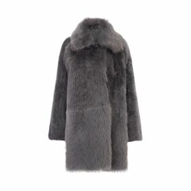 Gushlow & Cole Relaxed Fit Mixed Shearling Coat