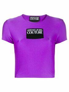 Versace Jeans Couture logo print T-shirt - PURPLE