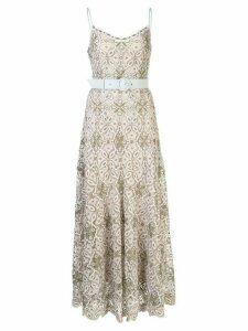 Jonathan Simkhai Savannah embroidered midi dress - Brown