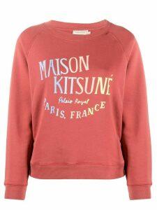 Maison Kitsuné logo print crew neck sweatshirt - PINK