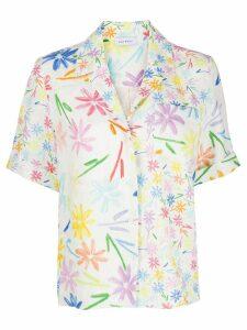 Mira Mikati linen floral print shirt - White