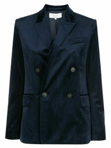 Vince velvet double-breasted blazer - Blue