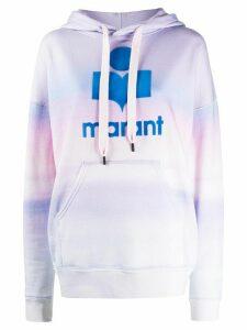 Isabel Marant Étoile Mansel Sunset-print oversized hoodie - Blue