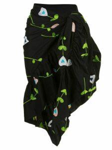 Cynthia Rowley Marea embroidered sarong - Black