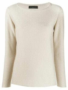 Fabiana Filippi fine knit round neck jumper - NEUTRALS