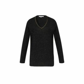 Gerard Darel Eymeric T-shirt In Jersey Flecked In Lurex