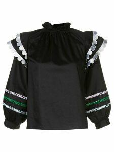 Cynthia Rowley Ellia puff-sleeves blouse - Black